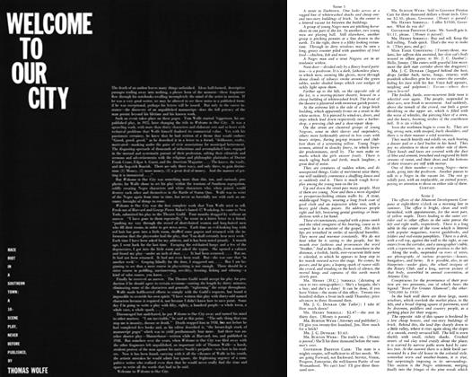 Article Preview: Welcome to Our City, October 1957 | Esquire
