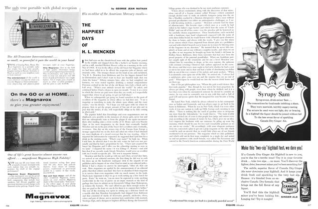 Article Preview: The Happiest Days of H. L. Mencken, OCTOBER, 1957 1957 | Esquire