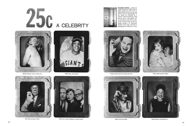 Article Preview: 25c a Celebrity, November 1957 | Esquire
