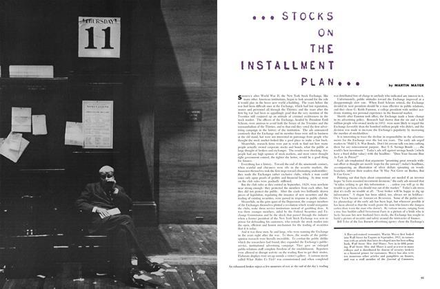 ... Stocks on the Installment Plan ...