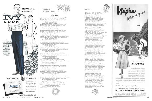 Article Preview: Lament, DECEMBER, 1957 1957 | Esquire