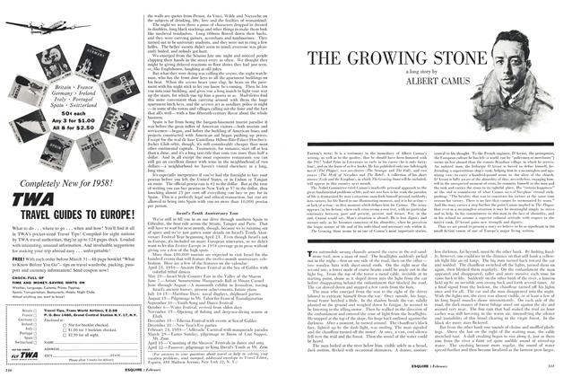 Article Preview: The Growing Stone, FEBRUARY, 1958 1958 | Esquire