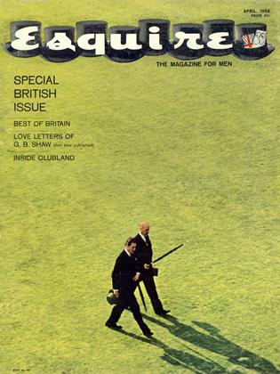 Cover for the April 1958 issue