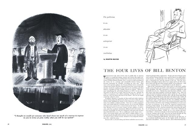 Article Preview: The Four Lives of Bill Benton, JULY, 1958 1958 | Esquire