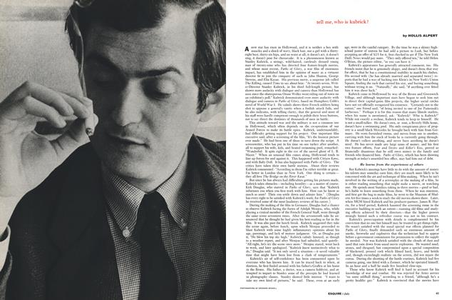 Article Preview: Tell Me, Who Is Kubrick?, July 1958 | Esquire