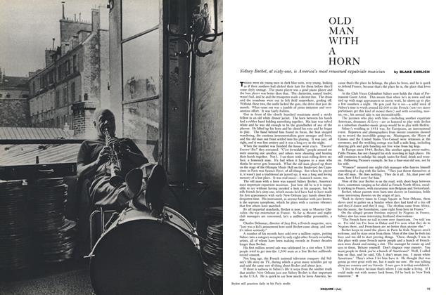 Article Preview: OLD MAN WITH A HORN, July 1958 | Esquire