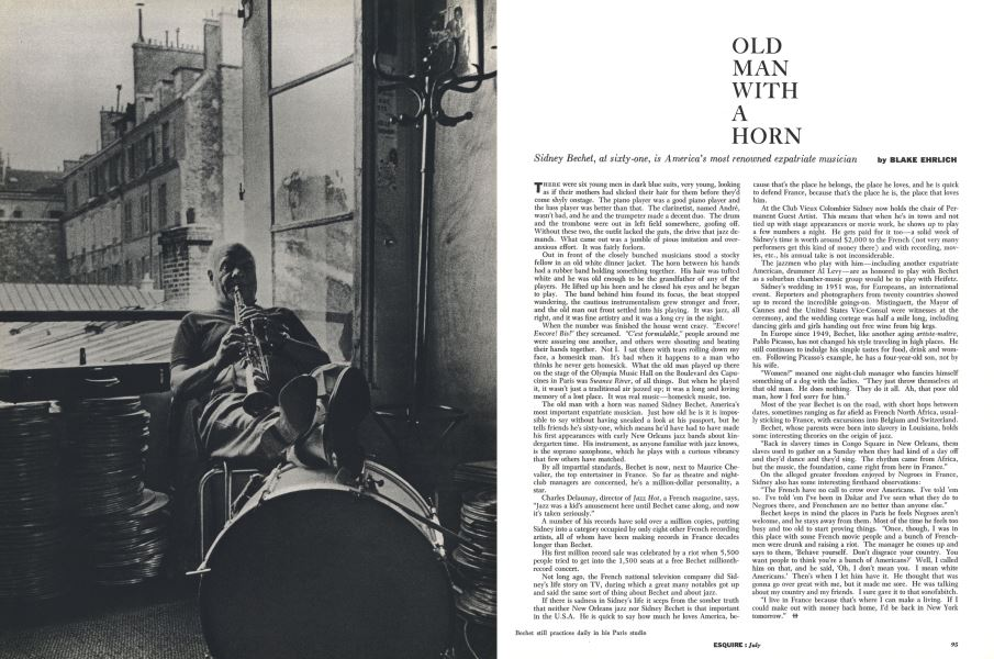 OLD MAN WITH A HORN | Esquire | JULY, 1958