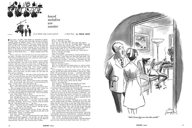 Article Preview: Heard Melodies Are Sweeter, August 1958 | Esquire