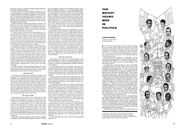 Article Preview: THE BRIGHT YOUNG MEN IN POLITICS, SEPTEMBER, 1958 1958 | Esquire