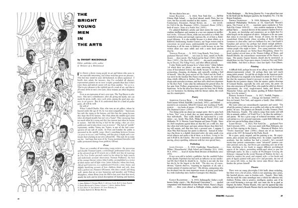 Article Preview: THE BRIGHT YOUNG MEN THE ARTS, SEPTEMBER, 1958 1958 | Esquire