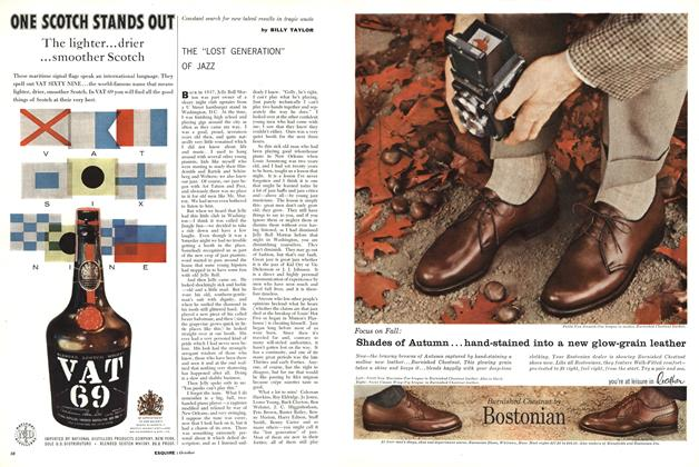 """Article Preview: The """"Lost Generation"""" of Jazz, OCTOBER, 1958 1958 