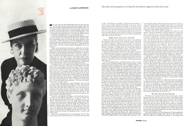 Article Preview: Lousier Lovers Than the Latins, October 1958 | Esquire