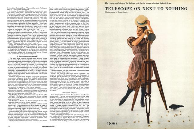 Article Preview: Telescope on Next to Nothing, NOVEMBER, 1958 1958 | Esquire