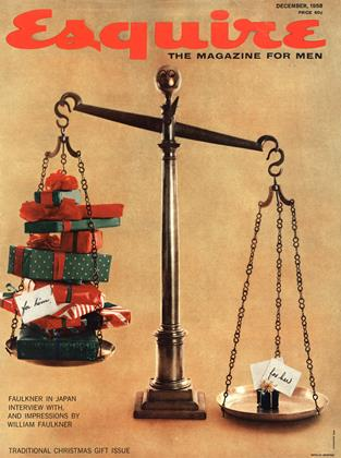 Cover for the December 1958 issue