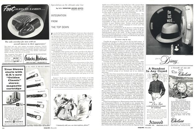 Article Preview: Integration From the Top Down, December 1958 | Esquire