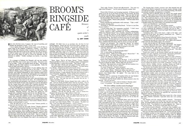 Article Preview: Broom's Ringside Café, DECEMBER, 1958 1958 | Esquire