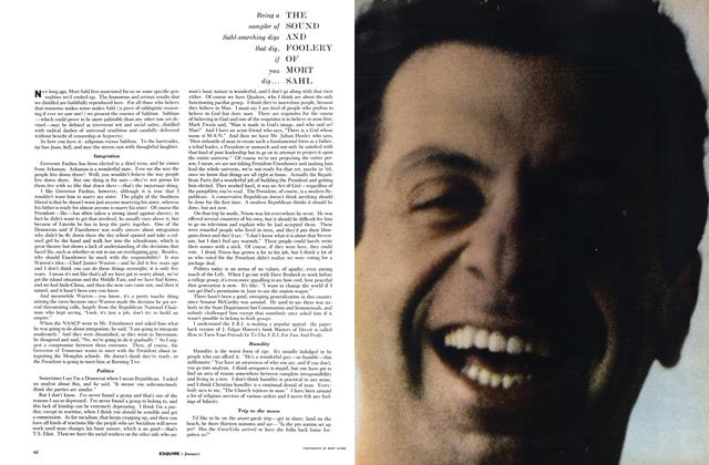 Article Preview: The Sound and Foolery of Mort Sahl, JANUARY, 1959 1959 | Esquire