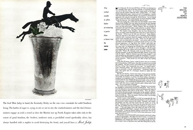 Article Preview: The Brutal Art of Bench Jockeying, MAY, 1959 1959 | Esquire