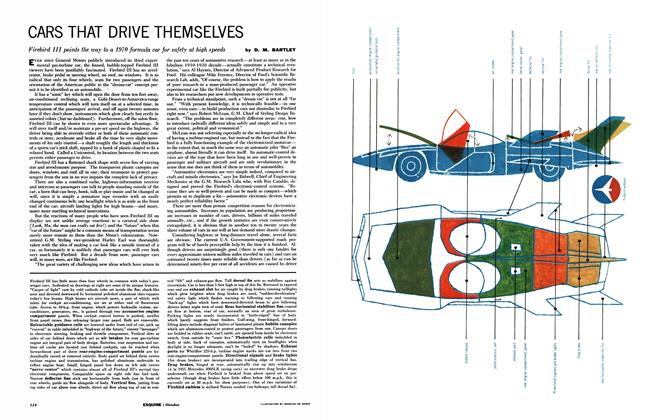 Article Preview: Cars That Drive Themselves, October 1959 | Esquire