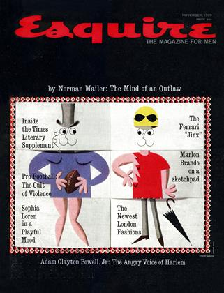 Cover for the November 1959 issue