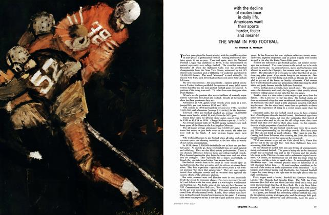Article Preview: The Wham in Pro Football, NOVEMBER, 1959 1959 | Esquire