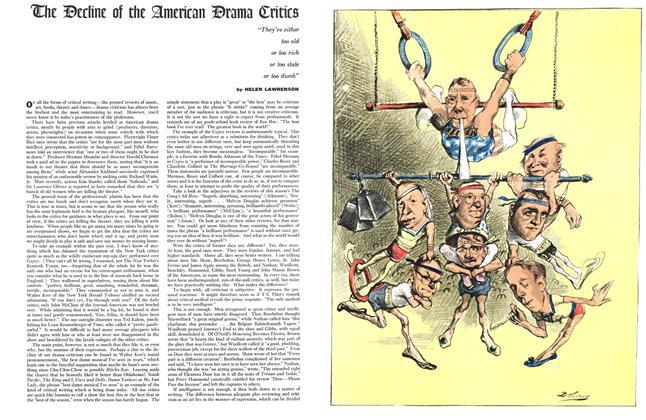 Article Preview: The Decline of the American Drama Critics, MARCH, 1960 1960 | Esquire