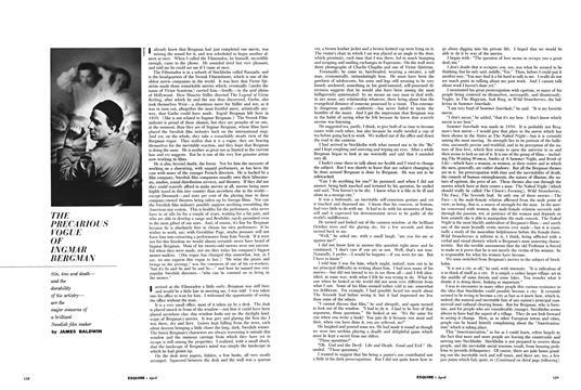 The Precarious Vogue of Ingmar Bergman - April   Esquire