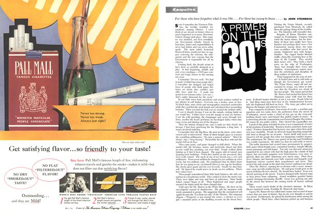 Article Preview: A Primer on the 30's, JUNE, 1960 1960 | Esquire