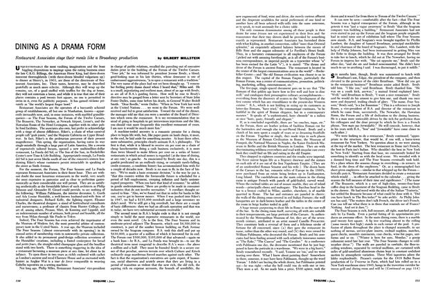 Article Preview: Dining as a Drama Form, JUNE, 1960 1960   Esquire