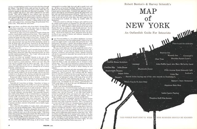 Article Preview: Map of New York, JULY, 1960 1960 | Esquire