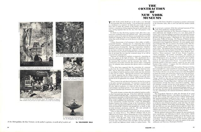 Article Preview: The Contraction of New York Museums, JULY, 1960 1960 | Esquire