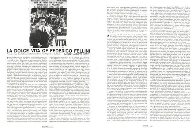 La Dolce Vita of Federico Fellini