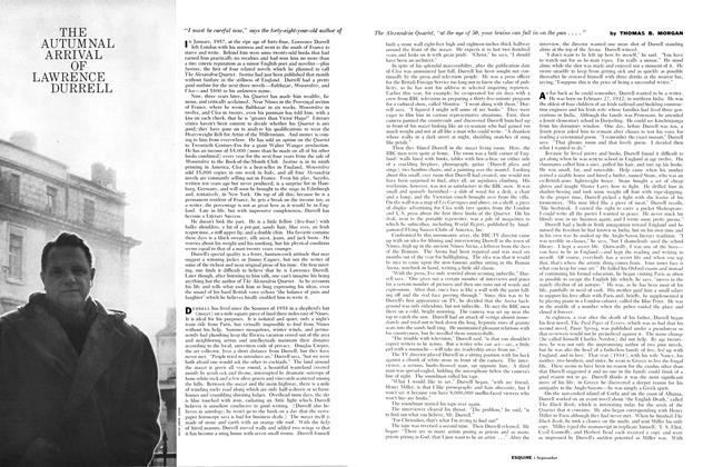 Article Preview: The Autumnal Arrival of Lawrence Durrell, SEPTEMBER, 1960 1960 | Esquire