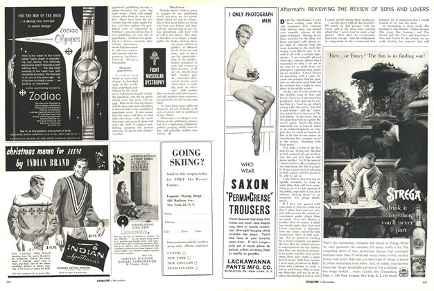 Article Preview: REVIEWING THE REVIEW OF SONS AND LOVERS, DECEMBER, 1960 1960 | Esquire