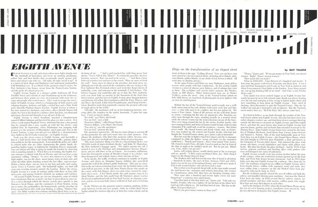 Article Preview: Eighth Avenue, APRIL, 1961 1961 | Esquire