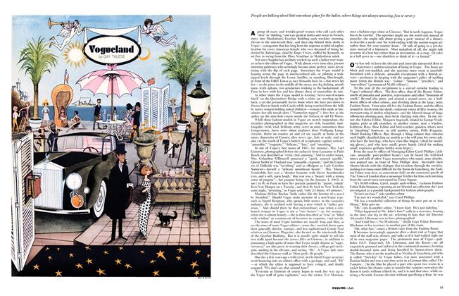 Article Preview: Vogueland, JULY, 1961 1961 | Esquire