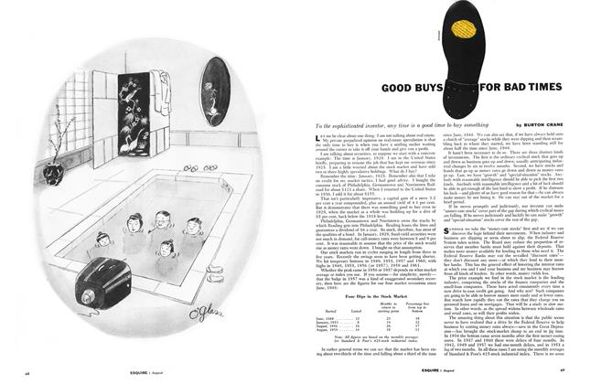 Article Preview: Good Buys for Bad Times, AUGUST, 1961 1961   Esquire
