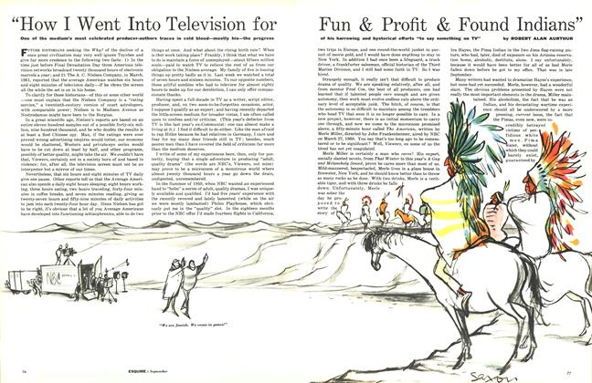 "Article Preview: ""How I Went into Television for Fun & Profit & Found Indians"", SEPTEMBER, 1961 1961 