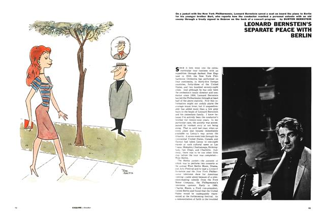 Article Preview: Leonard Bernstein's Separate Peace with Berlin, OCTOBER, 1961 1961 | Esquire
