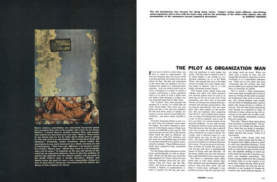The Pilot as Organization Man | Esquire | OCTOBER, 1961