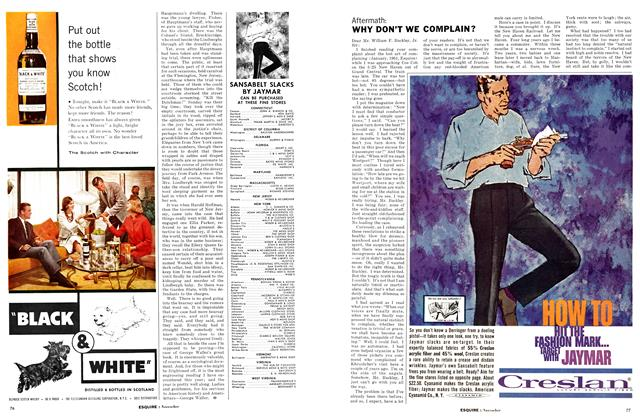 Article Preview: Why Don't We Complain?, NOVEMBER, 1961 1961 | Esquire