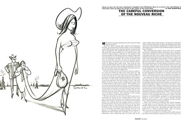 Article Preview: The Careful Conversion of the Nouveau Riche, NOVEMBER, 1961 1961   Esquire