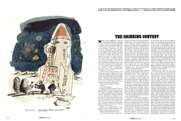 Article Preview: The Drinking Contest, December 1961 1961 | Esquire