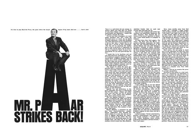 Article Preview: Mr. Paar Strikes Back!, March 1962 | Esquire