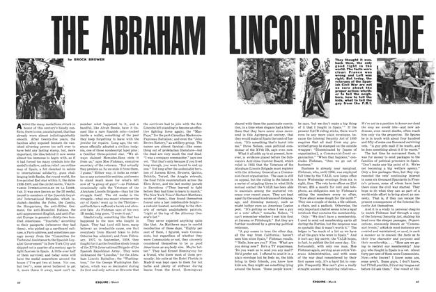 Article Preview: The Abraham Lincoln Brigade Revisited, MARCH, 1962 1962 | Esquire
