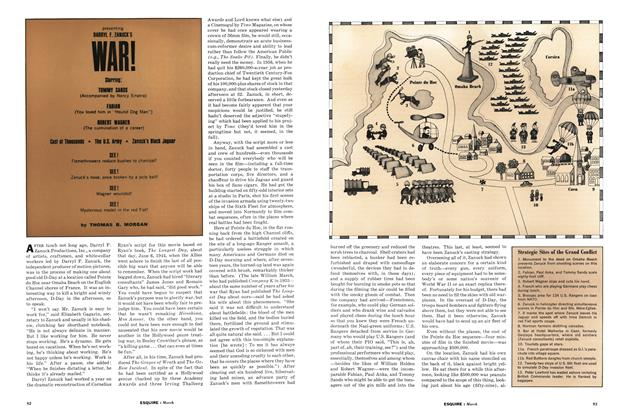 Article Preview: Presenting Darryl F. Zanuck's War!, March 1962 | Esquire