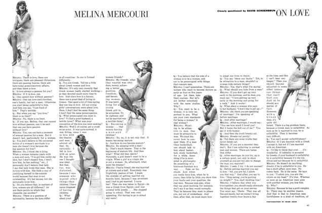 Melina Mercouri on Love