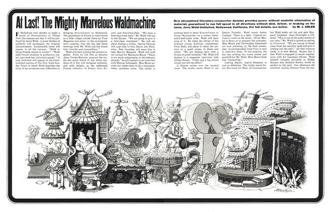 Article Preview: At Last! The Mighty Marvelous Waldmachine, MAY, 1962 1962 | Esquire