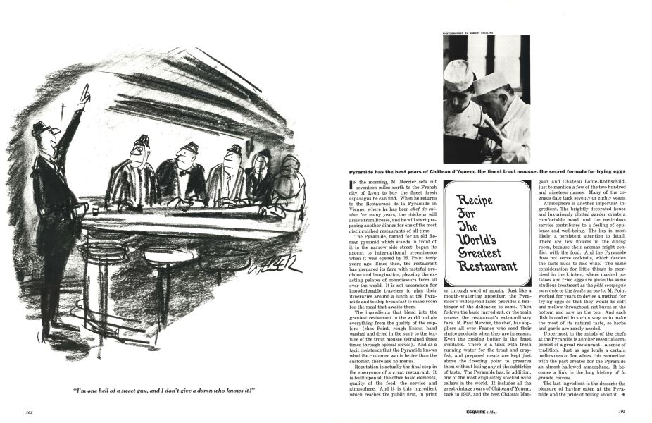 Recipe for the World's Greatest Restaurant | Esquire | MAY, 1962