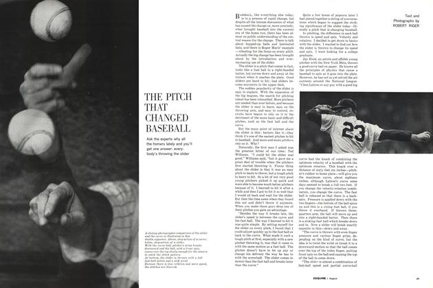 Article Preview: The Pitch That Changed Baseball, AUGUST, 1962 1962 | Esquire